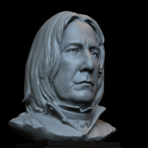 severus snape, alan rickman, harry potter, sculpture, bust, 3d printing