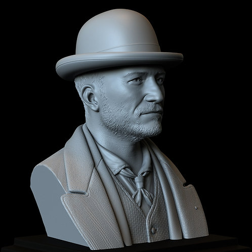 philo, rycroft philostrate, orlando bloom, carnival row, sculpture, bust, 3d printing