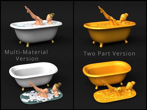 Bath Tub - Soap Dish - Multi-Material version included