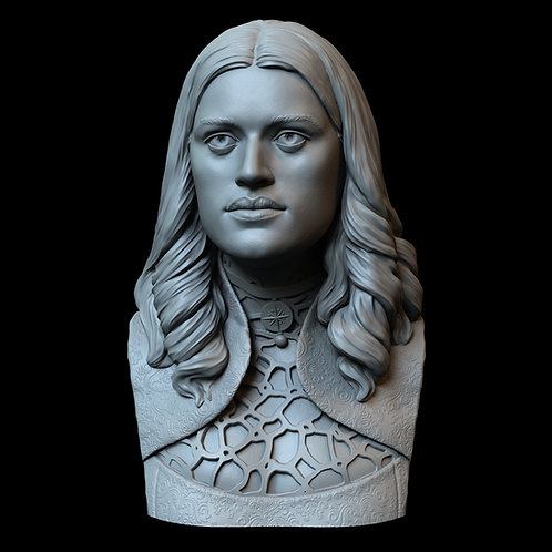 Yennefer of Vengerberg from The Witcher, 3d Printable Bust