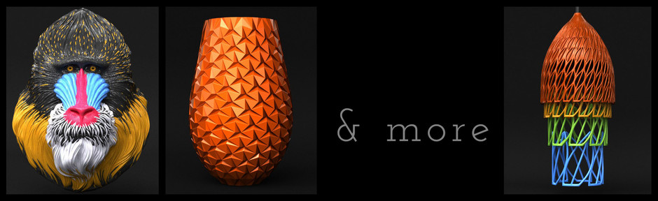 3d Printable lamps, vases, multi-material models and more