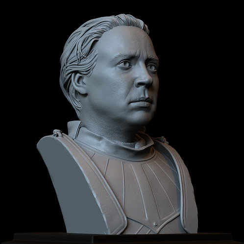 brienne of tarth, game of thrones, sculpture, bust, 3d printing