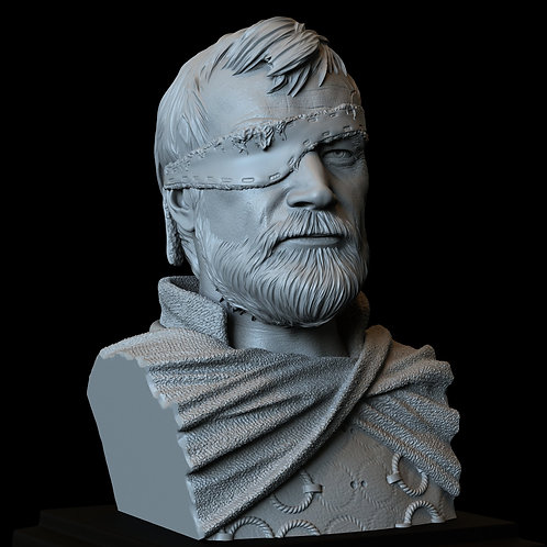 Beric Dondarrion from Game of thrones, 3d Printable Model, Bust, 200mm tall