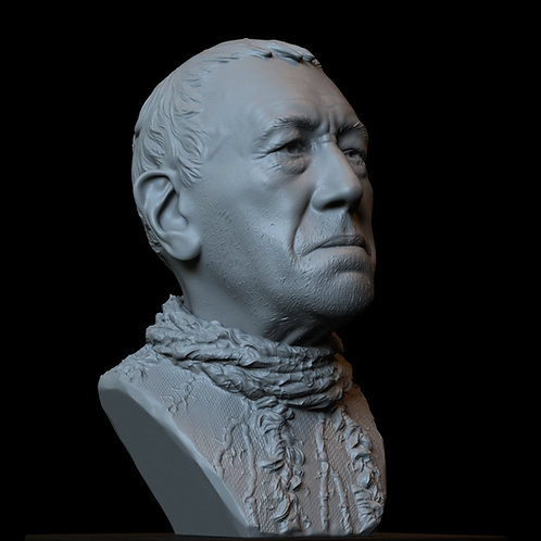 three eyed raven max von sydow game of thrones sculpture bust 3d printing