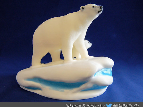 Polar Bear - MultiMaterial - two versions