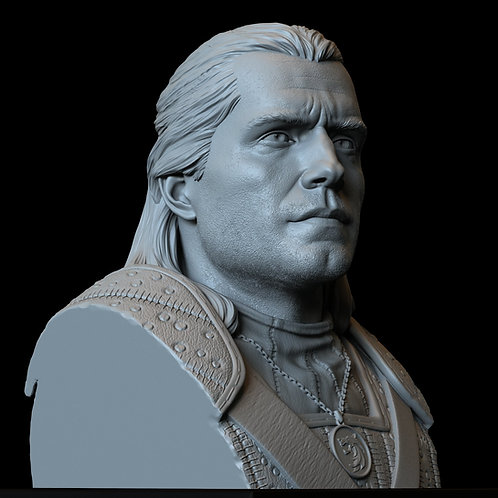Geralt of Rivia from The Witcher, 3d Printable Bust