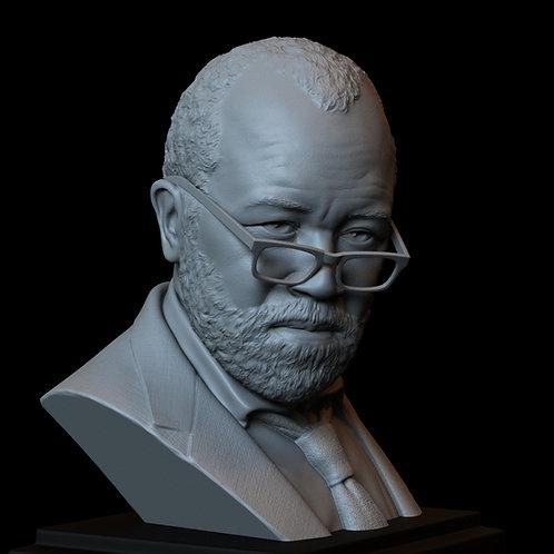 bernard lowe, jeffrey wright, westworld, hbo, sculpture, bust, 3d printing