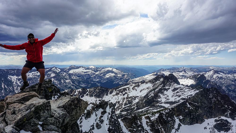 Enjoying post-residency Montana life on Trapper Peak.
