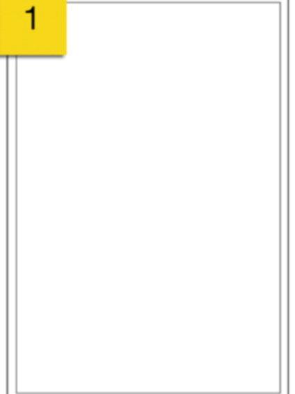 A4 Sticker Label - 1 label per sheet - 210 mm x 297 mm