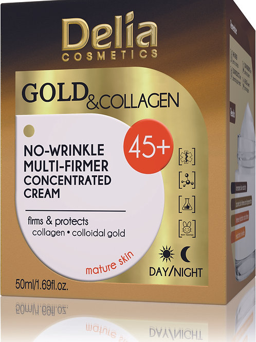 Delia - 45+ Gold & Collagen Multi Lifting Anti Wrinkle Cream Concentrate - 50 ml