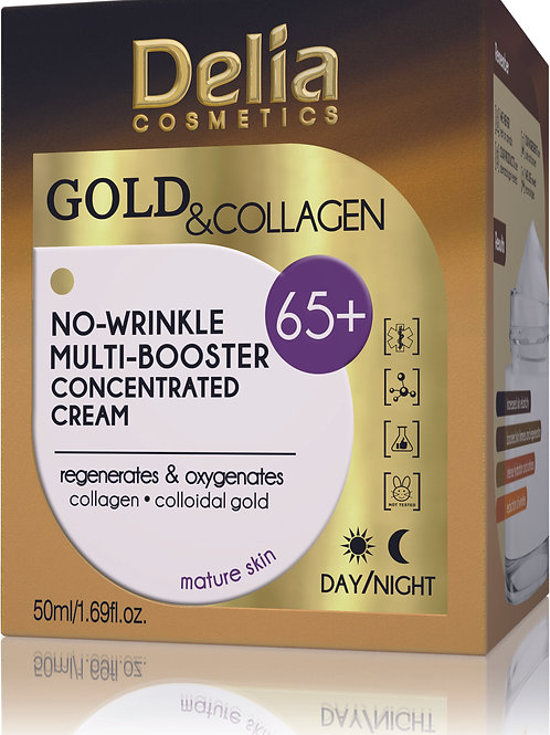 Delia - 65+ Gold & Collagen No Wrinkle Multi Booster Concentrated Cream - 50 ml