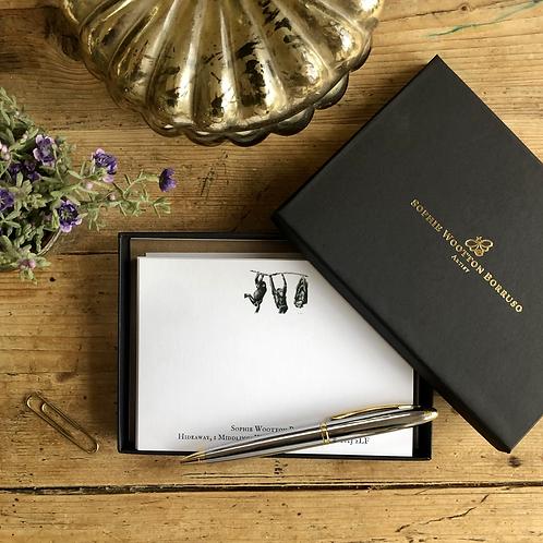 Chimps luxury personalised notecards