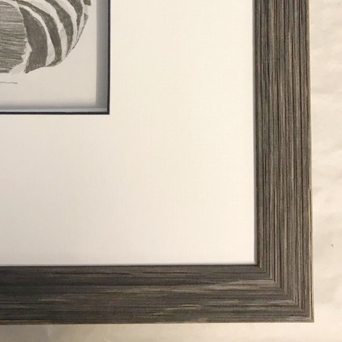 Slate grey wooden frame with a lovely grain