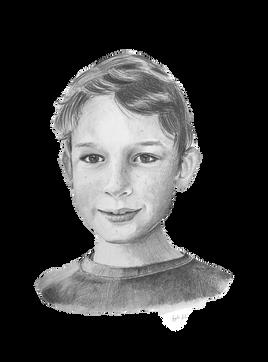 Child portrait, pencil portrait, Sevenoaks, Kent