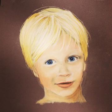 Child portrait, pastel portrait, Sevenoaks, Kent