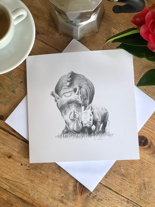 Greeting card: Heart of a Lion, Skin of a Rhino, Soul of a Child