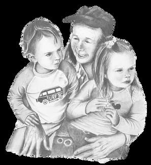 Child family portrait, pencil portrait, Sevenoaks, Kent