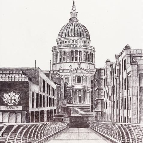 St Paul's from Millenium Bridge