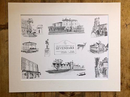 Sevenoaks Town Fine art Print