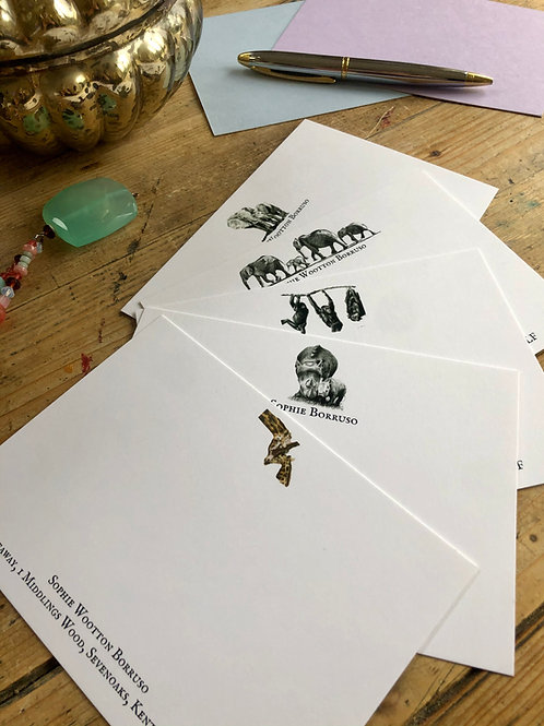 Wild in Africa luxury personalised note cards