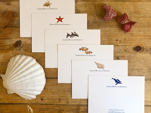 Sealife Luxury Personalised notecards