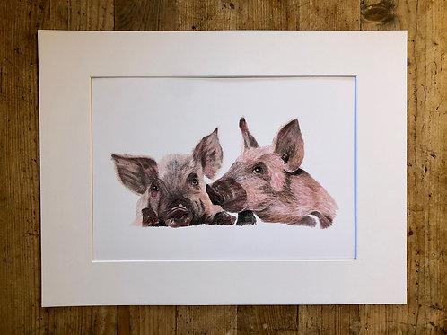 'Sibling Love' fine art print