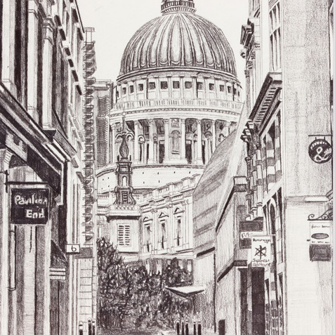 St Pauls Cathedral from Watling Street