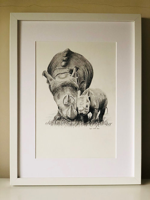 """High Quality Print: """"Heart of a lion, skin of a rhino, soul of a child"""""""