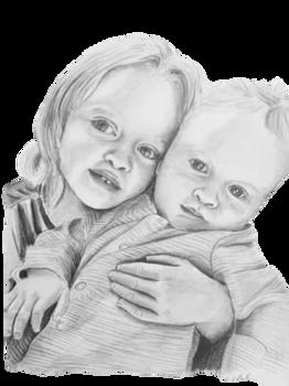 Child pencil portrait