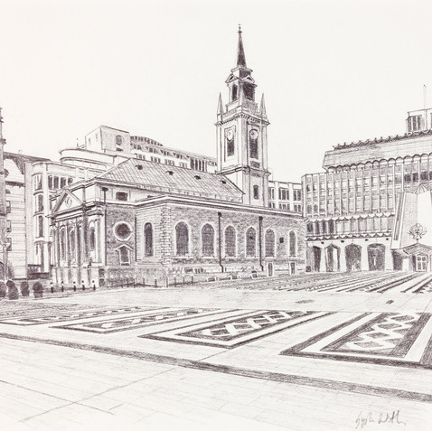 St Lawrence Jewry, Next Guildhall