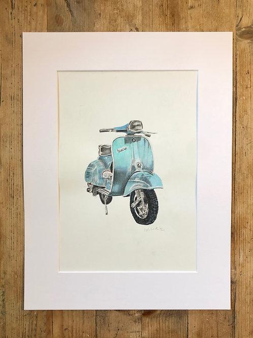 Viva Italia: The classic Vespa fine art print