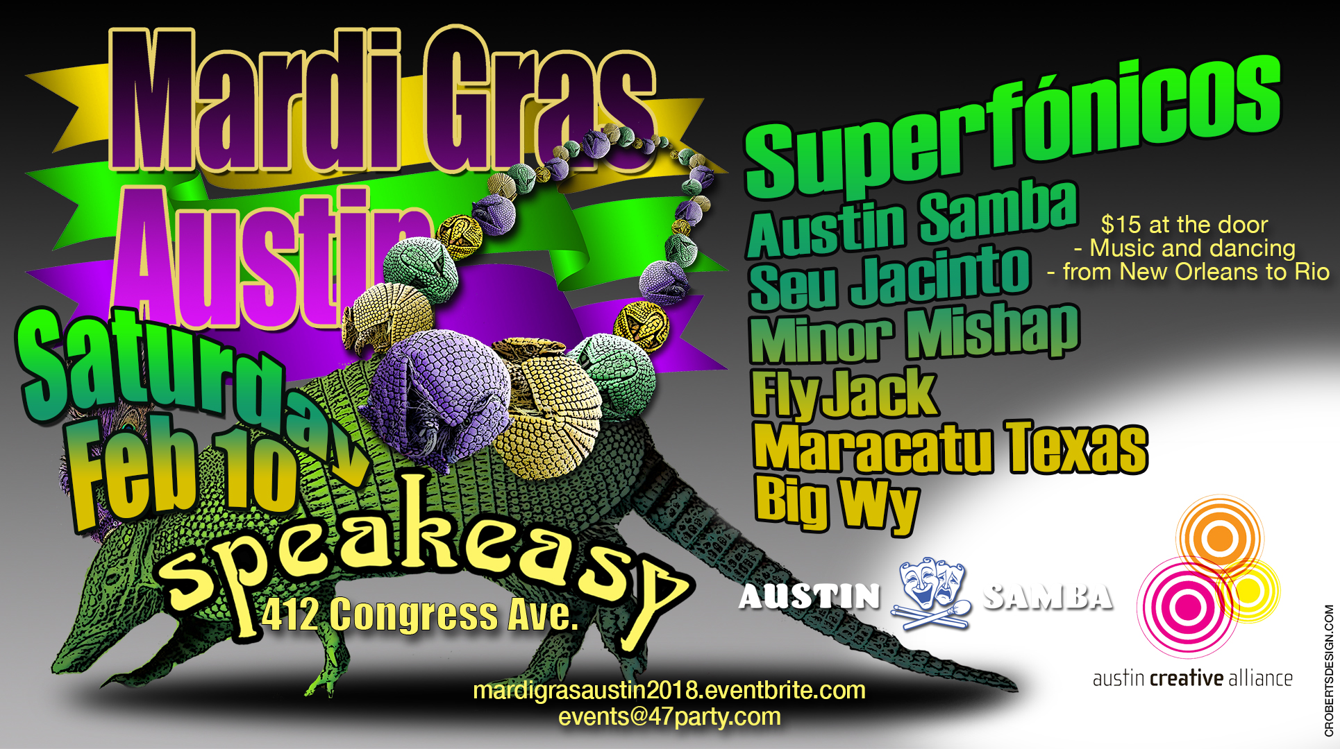 mardi gras austin horizontal version