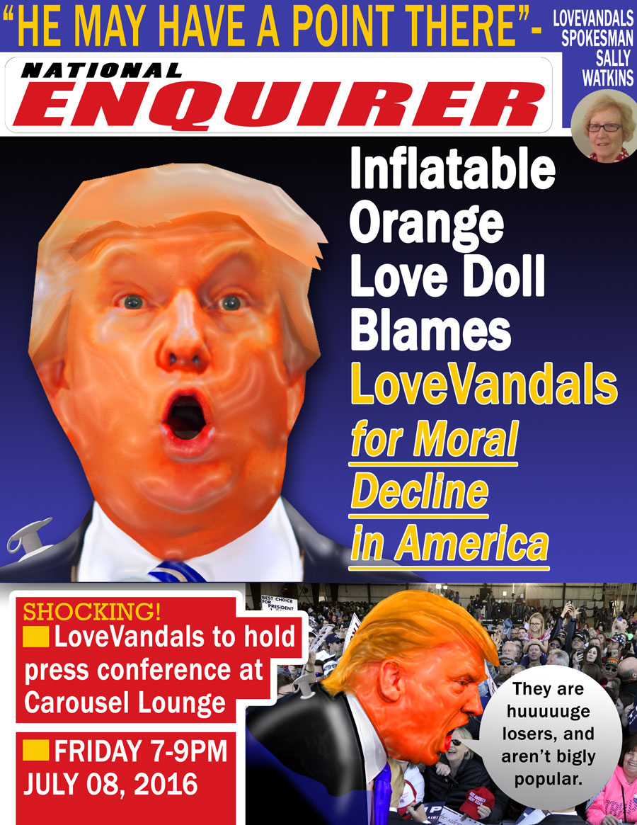 Inflatable Orange Love Doll