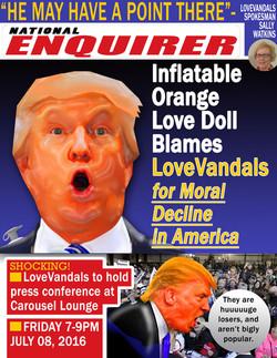 Inflatable Orange Love Doll