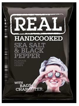 Sea Salt & Black Pepper Real Crisps