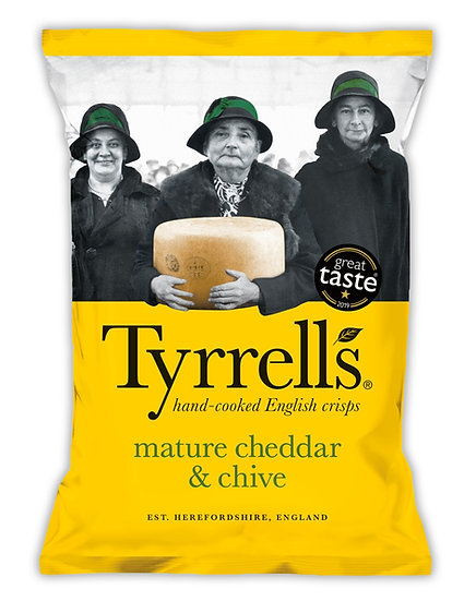Mature Cheddar & Chive Tyrrells Crisps
