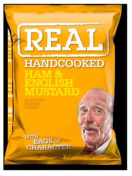 Ham & English Mustard Real Crisps