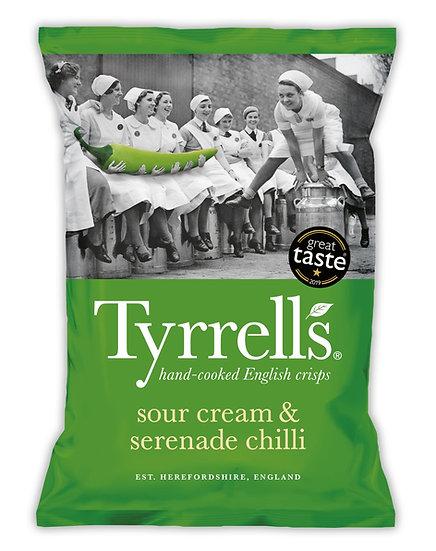 Sour Cream & Serenade Chilli Tyrrells Crisps