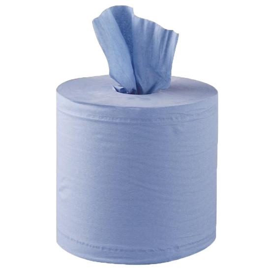 1ply  blue centrefeed