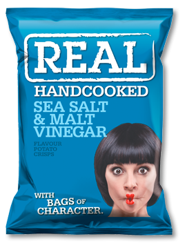 Sea Salt & Malt Vinegar Real Crisps