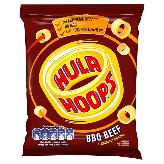 Hula Hoops BBQ Beef Potatoe Snack