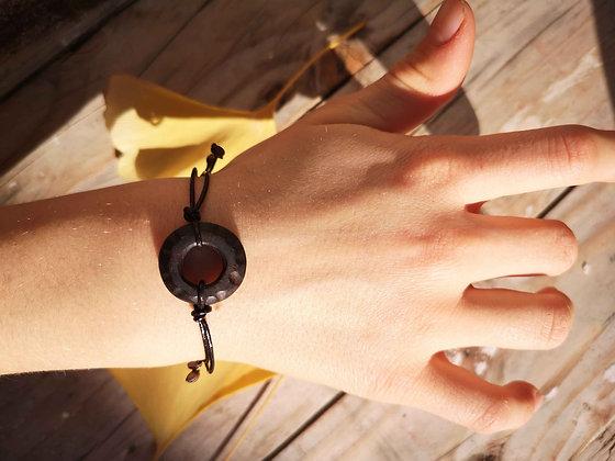 Bracelet bois et cuir