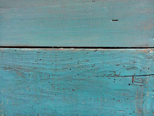 Table de nuit bleue//Atelier Couleurs carmin