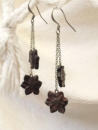 Boucles d'oreilles fleurs