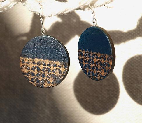 Boucles zen soleil bleu