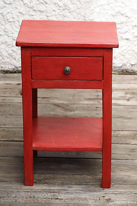 Table de nuit rouge