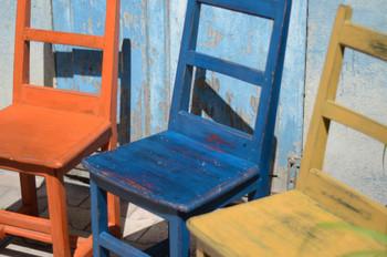 Trio de chaises relookées