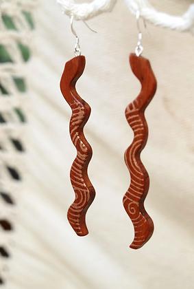 Boucles serpent doré