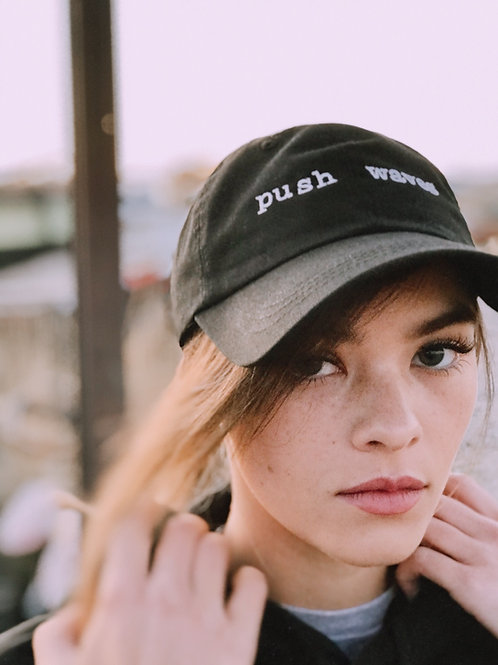 push waves dad hat .001 (limited holiday merch)