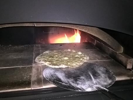 Erstes Feuer im neuen Ofen